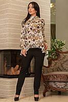 Блузка блуза женская шифон яркий принт батал размеры:48, 50, 52-54, 56-58, 60-62Распродажа!