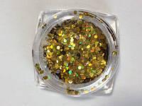 Декор золотой голографический (Маленькие круги)