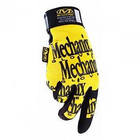 Перчатки рабочие Mechanix Fast Fit желтые