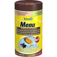Tetra MENU (4 в 1) (Корм для аквариумных рыб,мелкие хлопья), 100мл