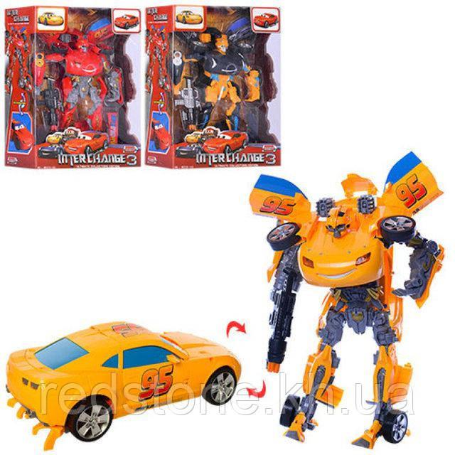 Игрушка трансформер W5533-143 Тачки, 33 см, робот+машинка, свет