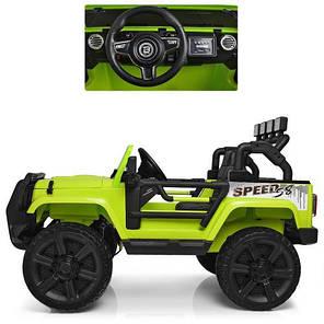 Детский Электромобиль Bambi ДЖИП Jeep Wrangler Green (M 3824 EBLR 5), фото 2