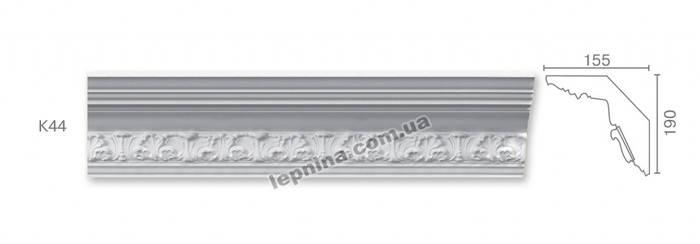 Потолочный карниз К-44 из бетона