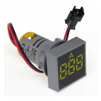 Цифровий амперметр АВаТар 100 А квадратний жовтий (ST 73 01 06)
