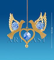 Подвеска с кристаллами Сваровски Голуби
