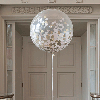 Большой шар, шар гигант. Шар гигант с конфетти.Гелиевые шары в Киеве. Гелиевые шары на Троещине.
