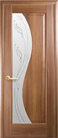 Дверное полотно Эскада Со стеклом сатин и рисунком Р2 Золотая ольха