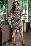 Платье с геометрическим принтом / аногра софт / Украина 34-457, фото 1