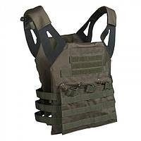 Разгрузочный жилет с карманами для бронепластин Mil-Tec олива