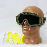 Очки защитные маска баллистическая Revision олива 3 линзы 700d01bbf7cbb