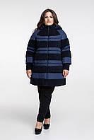 Зимняя женская куртка комбинированная, с 48 по 72 размер , фото 1