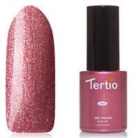 Гель-лак Tertio №64 коричнево-розовый с микроблестками 10 мл