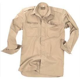 Рубашка рип-стоп Mil-Tec (длинный рукав) койот