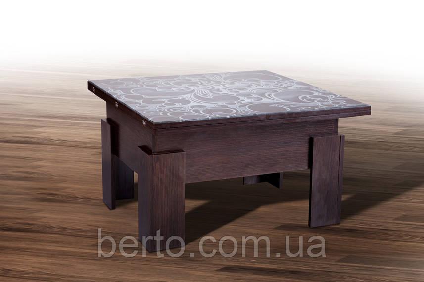 Стол-трансформер Дельта стекло Микс мебель
