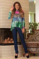 Блузка блуза женская шифон яркий принт размеры:42,44,46 Распродажа!