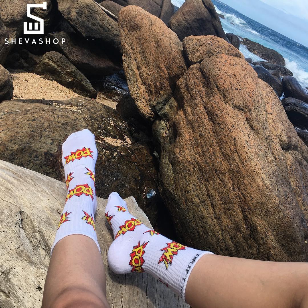 Длинные носки Driftwood Pow белые