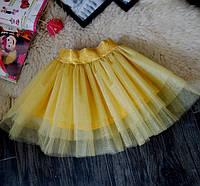 Нарядная фатиновая золотая юбка Five Stars U0119-122p