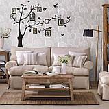 Інтер'єрна наклейка на стіну Дерево з фоторамками (022186), фото 2