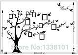 Інтер'єрна наклейка на стіну Дерево з фоторамками (022186), фото 5