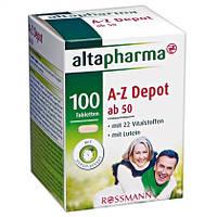 Altapharma A-Z ab 50 Depot Tabletten - Витамины и минералы (возраст 50+)
