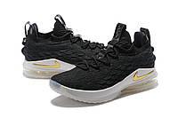 Мужские баскетбольные кроссовки Nike LeBron 15 Low (Black/Beige), фото 1