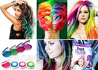 Цветная Пудра для Волос Hot Huez Мелки, фото 1