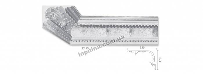 Потолочный карниз К-115 из бетона
