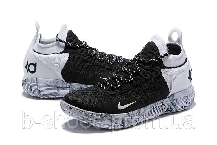 Мужские баскетбольные кроссовки Nike KD 11 (Black White) купить в ... d9e79a55545
