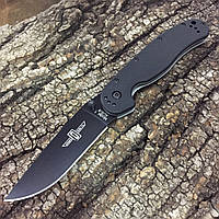 Нож Ontario Rat Folder 1, Black Plain