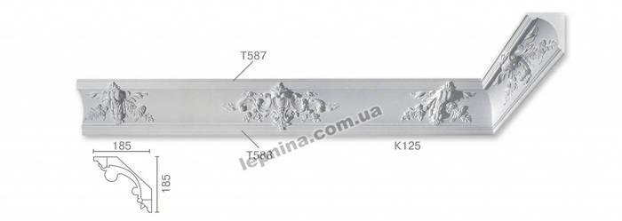 Потолочный карниз К-125 из бетона