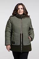 Женская куртка с меховой отделкой, с 48 по 60 размер , фото 1