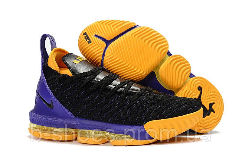 Мужские баскетбольные кроссовки Nike LeBron 16 (Black/Purple/Yellow)