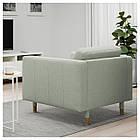 Кресло IKEA LANDSKRONA Gunnared светло-зеленое на деревянных ножках 892.697.21, фото 2