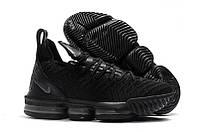 Мужские баскетбольные кроссовки Nike LeBron 16 (Black/White), фото 1