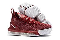 Мужские баскетбольные кроссовки Nike LeBron 16 (Wine red/White), фото 1
