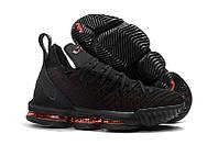 Детские баскетбольные кроссовки Nike LeBron 16 (Black/Red), фото 1