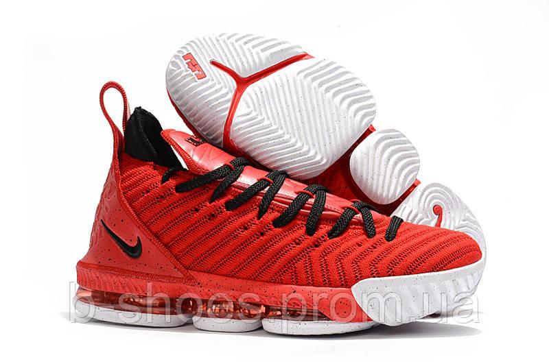 Детские баскетбольные кроссовки Nike LeBron 16 (Red Black White). Под заказ 834e67336ec