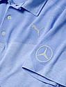 Оригинальная  мужская рубашка-поло Mercedes Men's Golf Polo Shirt, Blue (B66450317), фото 2