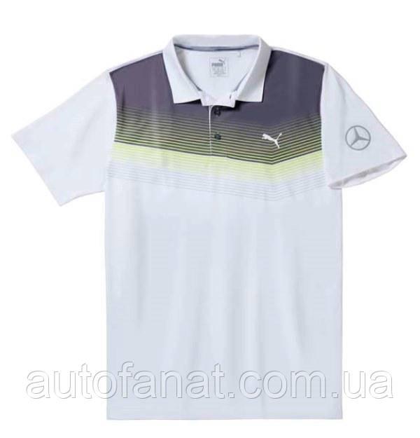 Мужская рубашка-поло Mercedes Men's Golf Polo Shirt, White