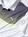 Мужская рубашка-поло Mercedes Men's Golf Polo Shirt, White, фото 2