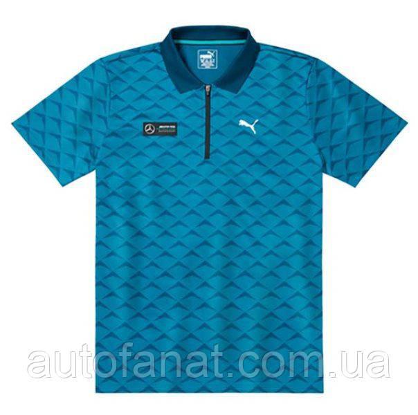 Оригинальная мужская рубашка-поло Mercedes AMG Petronas Motorsport, Men's Polo Shirt, Blue (B67995461)