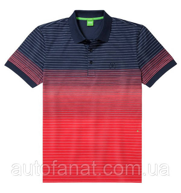 Оригинальная мужская рубашка поло Mercedes-Benz Men's Polo Shirt, Boss Green, Navy / Red (B66958394)