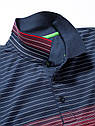 Оригинальная мужская рубашка поло Mercedes-Benz Men's Polo Shirt, Boss Green, Navy / Red (B66958394), фото 2
