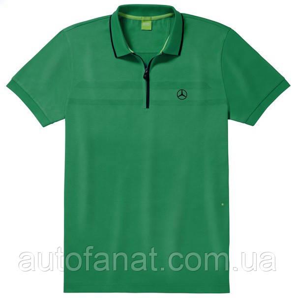 Оригинальная мужская рубашка-поло Mercedes-Benz Men's Polo Shirt, Hugo Boss, Green (B66958468)