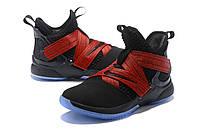 Мужские баскетбольные кроссовки Nike LeBron Soldier 12 (Black/Red), фото 1