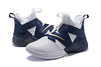 Мужские баскетбольные кроссовки Nike LeBron Soldier 12 (Dark blue/White), фото 1