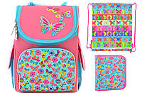 Набор 1 вересня Smart для девочки рюкзак 554454, пенал 531697, сумка 555220
