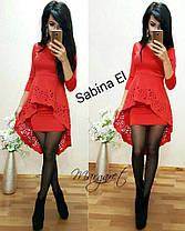 Платье мини с необычной баскойи рукавами, фото 2