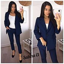 Костюм брюки и пиджак с карманами деловой стиль, фото 3