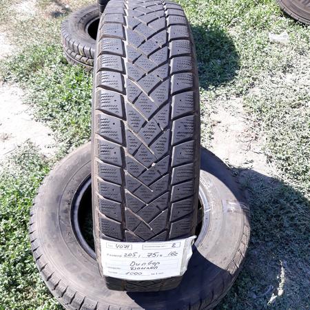 Шины б.у. 205.75.r16с Dunlop SP LT60 Данлоп. Резина бу для микроавтобусов. Автошина усиленная. Цешка